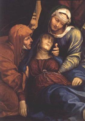 Detail of Deposition (altarpiece) showing Madonna fainting