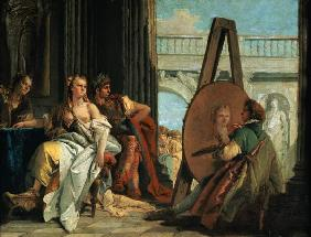 Alexander of the great and Campaspe in the studio