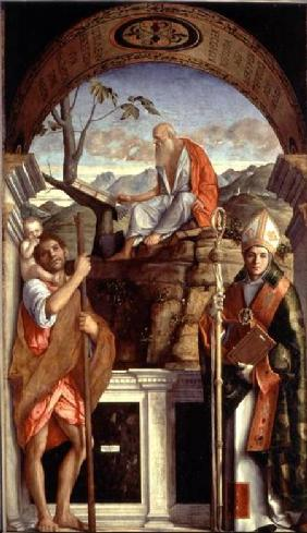 St. Jerome, St. Christopher and St. Augustine