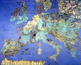 Map of Sixteenth Century Europe from the 'Sala del Mappamondo (Hall of the World Maps)