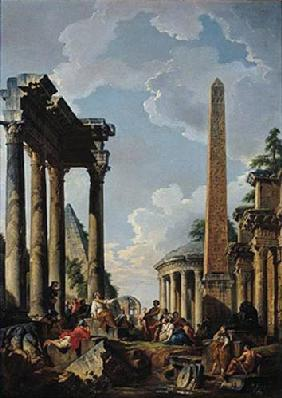 Architectural Capriccio with a Preacher in the Ruins