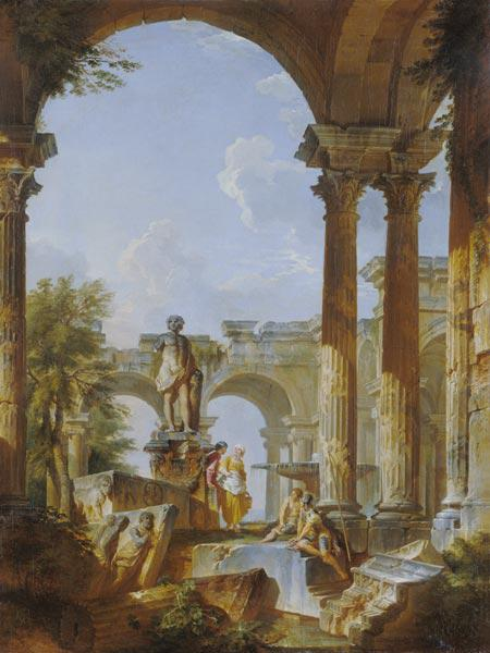 G.P.Pannini, Ideal view with ruins