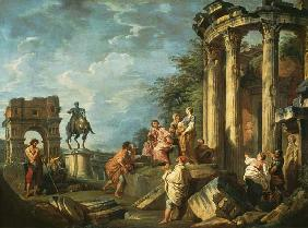 Peasants Amongst Roman Ruins