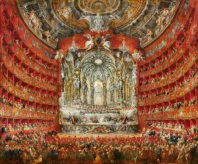 Concert given by Cardinal de La Rochefoucauld at the Argentina Theatre in Rome