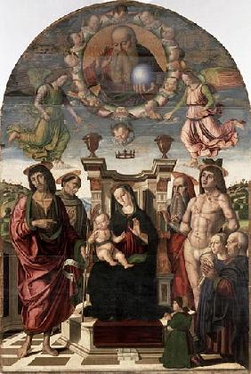 The Madonna and Child Enthroned with Saints