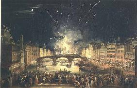 Fireworks over the River Arno