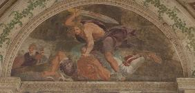 David slaying Goliath (Loggia di Davide)