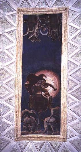 Apollo driving the Chariot of the Sun, ceiling decoration in the Camera del Sole