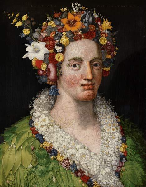 Flora - Giuseppe Arcimboldo en reproducción impresa o copia al ...