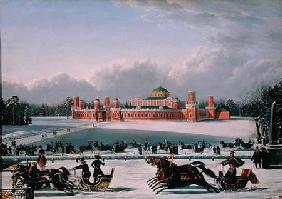 Sleigh Race at the Petrovsky Park in Moscow