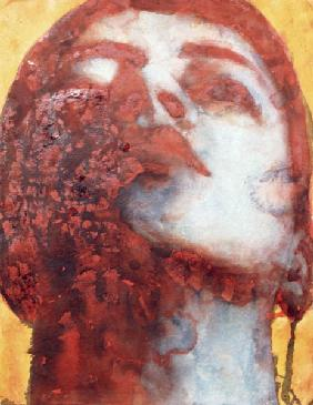 Head, 2000 (w/c on handmade Indian paper)