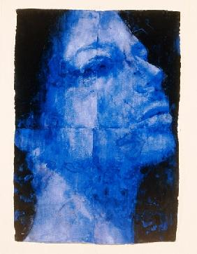 Blue Head, 1998 (w/c on handmade indian paper)