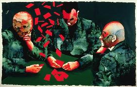 The Card Players, 1987 (w/c & acrylic on paper)