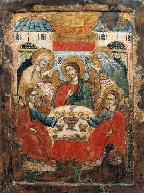 Abraham and the Three Angels, icon, from Macedonia