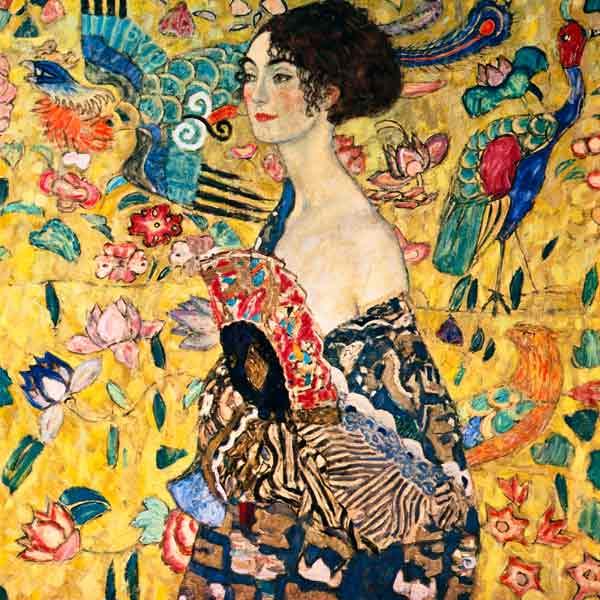 Titulo de la imágen Gustav Klimt - Mujer con abanico
