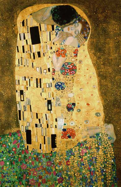 detalle de el beso cuadro de gustav klimt. Black Bedroom Furniture Sets. Home Design Ideas