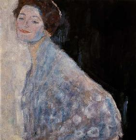 Lady portrait in white. 1917/1918