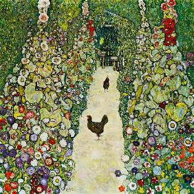Garden way with chickens 1916