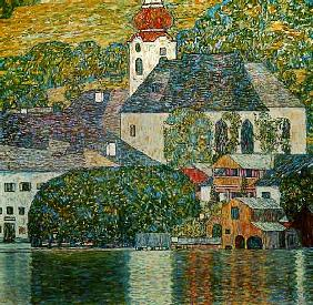 Church in Unterach at the Attersee