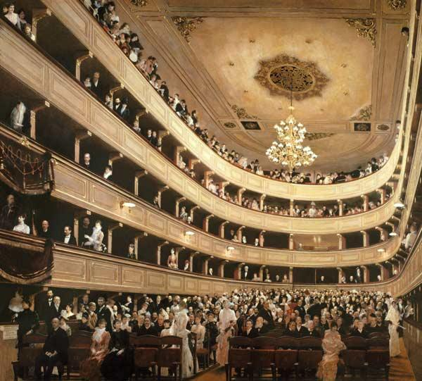 The Auditorium of the Old Castle Theatre 1888