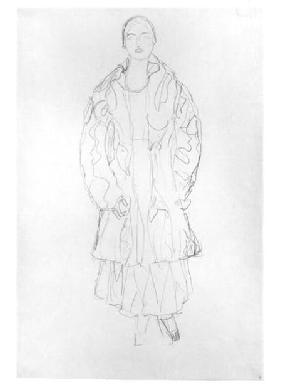Standing Woman with Coat 1916 cil o