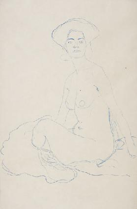 Seated Female Nude in a rotated position
