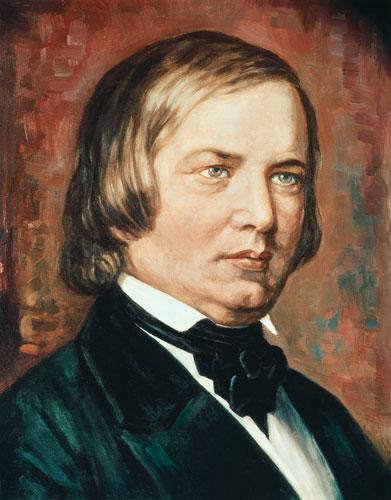 Portrait of Robert Schumann (1810-1856) - Gustav Zerner en ...