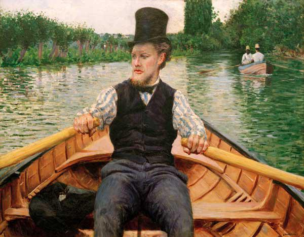 Rower with top hat