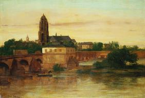 Vista de Frankfurt am Main - Gustave Courbet