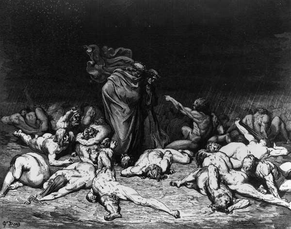 Dante and Virgil in Hell, illustration from ''The Divine Comedy''