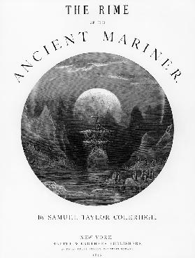 Title page from ''The Rime of the Ancient Mariner'' S.T. Coleridge,S.T. Coleridge, publishedHarper &
