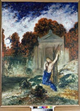 Orpheus at the grave Eurydikes.