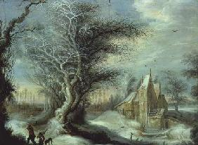 Winter Landscape with a Woodcutter