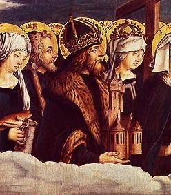 Emperor Heinrich and three other saints detail of
