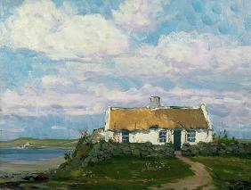 Irish country house at the coast