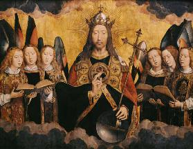 Christ Blessing, central panel from a triptych from the Church of Santa Maria la Real, Najera