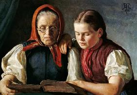Mother and sister of the artist.