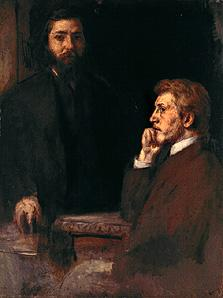 Double portrait Adolf Hildebrand and Charles Grant