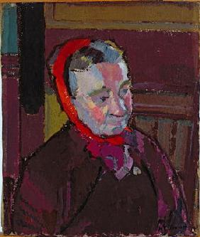 Portrait of Mrs Mounter, 1916-17 (oil on canvas)