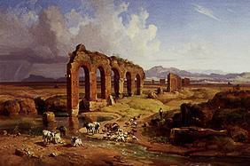 Campagnalandschaft with aqueducts