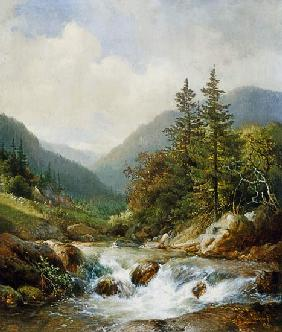 Hendrick van Sande Backhuyzen - Mountain stream.