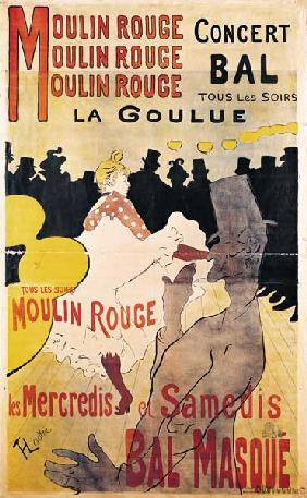 Poster advertising ''La Goulue'' at the Moulin Rouge