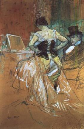 Woman at her Toilet, study for 'Elles'