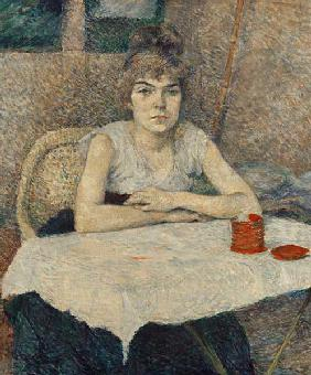 Young woman at a table (Poudre de riz)