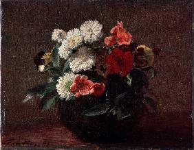 Flowers in an Earthenware Vase