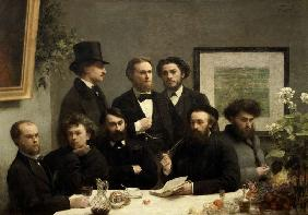 Coin de table (French poets at a table)
