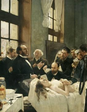 Before the Operation, or Doctor Pean teaching at Saint-Louis hospital