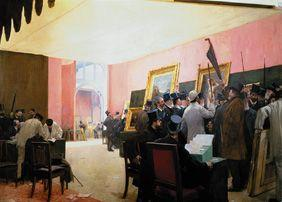 The jury sits in the drawing-room of the Artistes