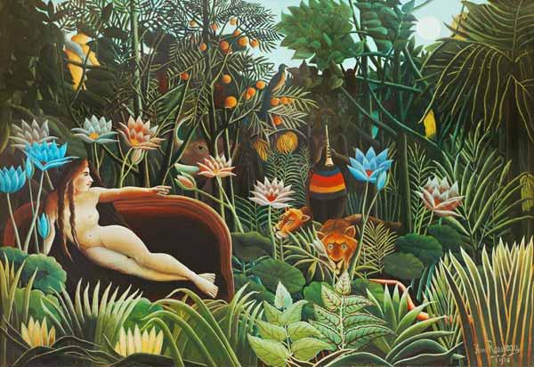 El Sueño - cuadro de Henri Rousseau en reproducción impresa o ...
