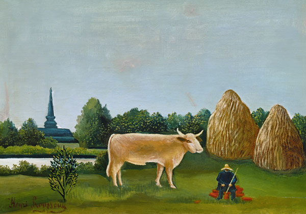 Paisaje con vacas o vista de Bagneux con vacas - Henri Julien Felix ...